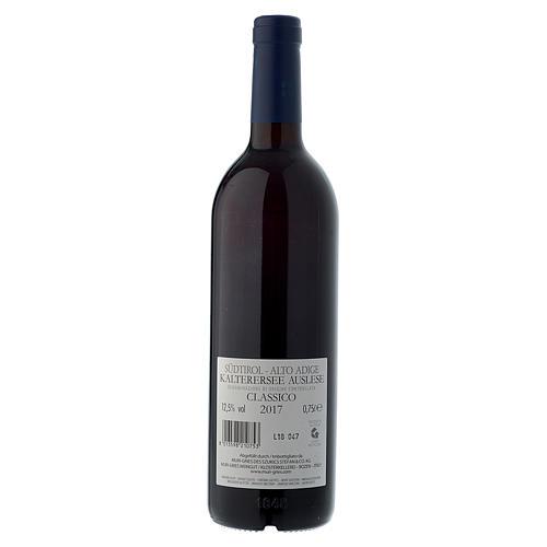 Vino Lago di Caldaro scelto  DOC 2017 Abbazia Muri Gries 750 ml 2