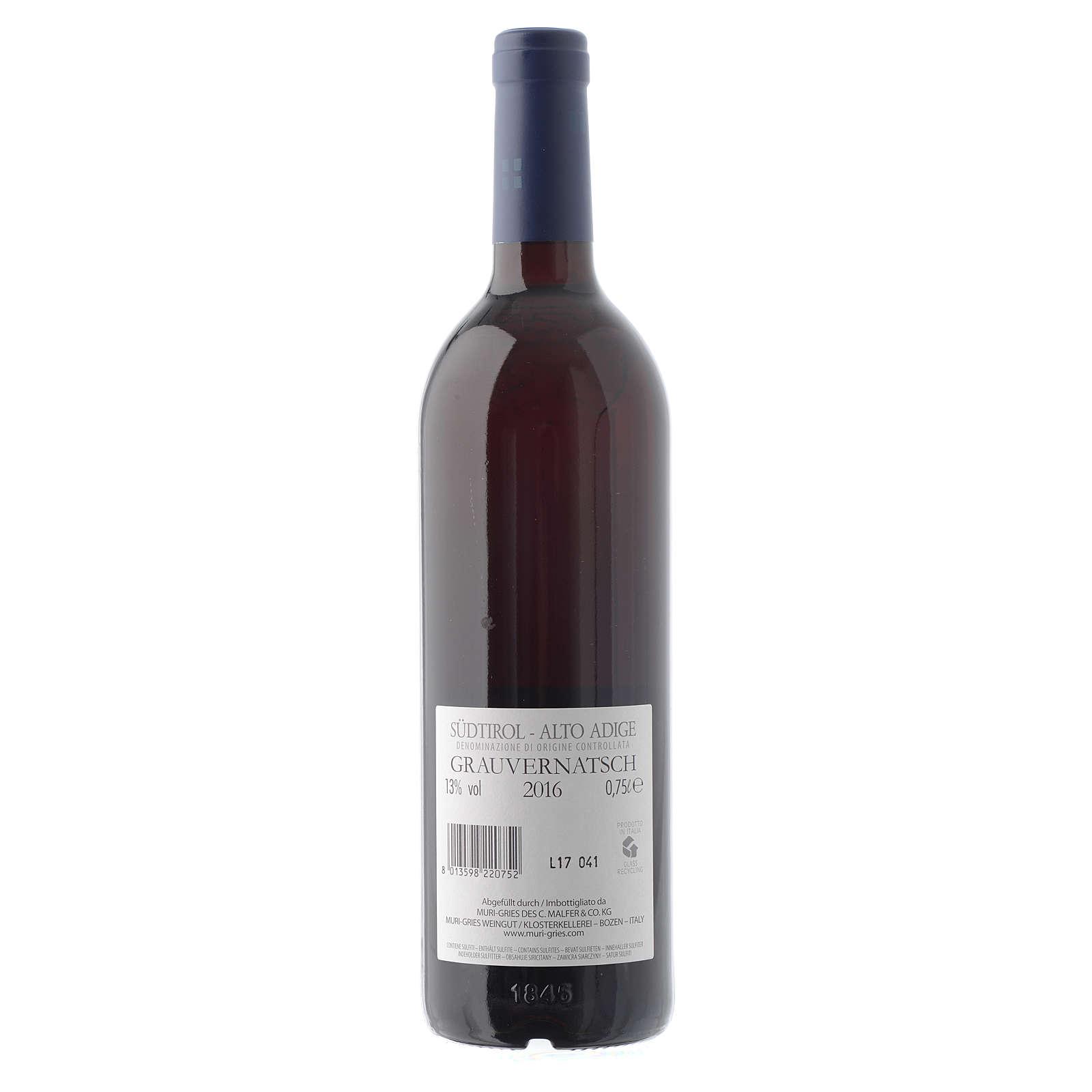 Vino Schiava Grigia  DOC 2016 Abbazia Muri Gries 750 ml 3