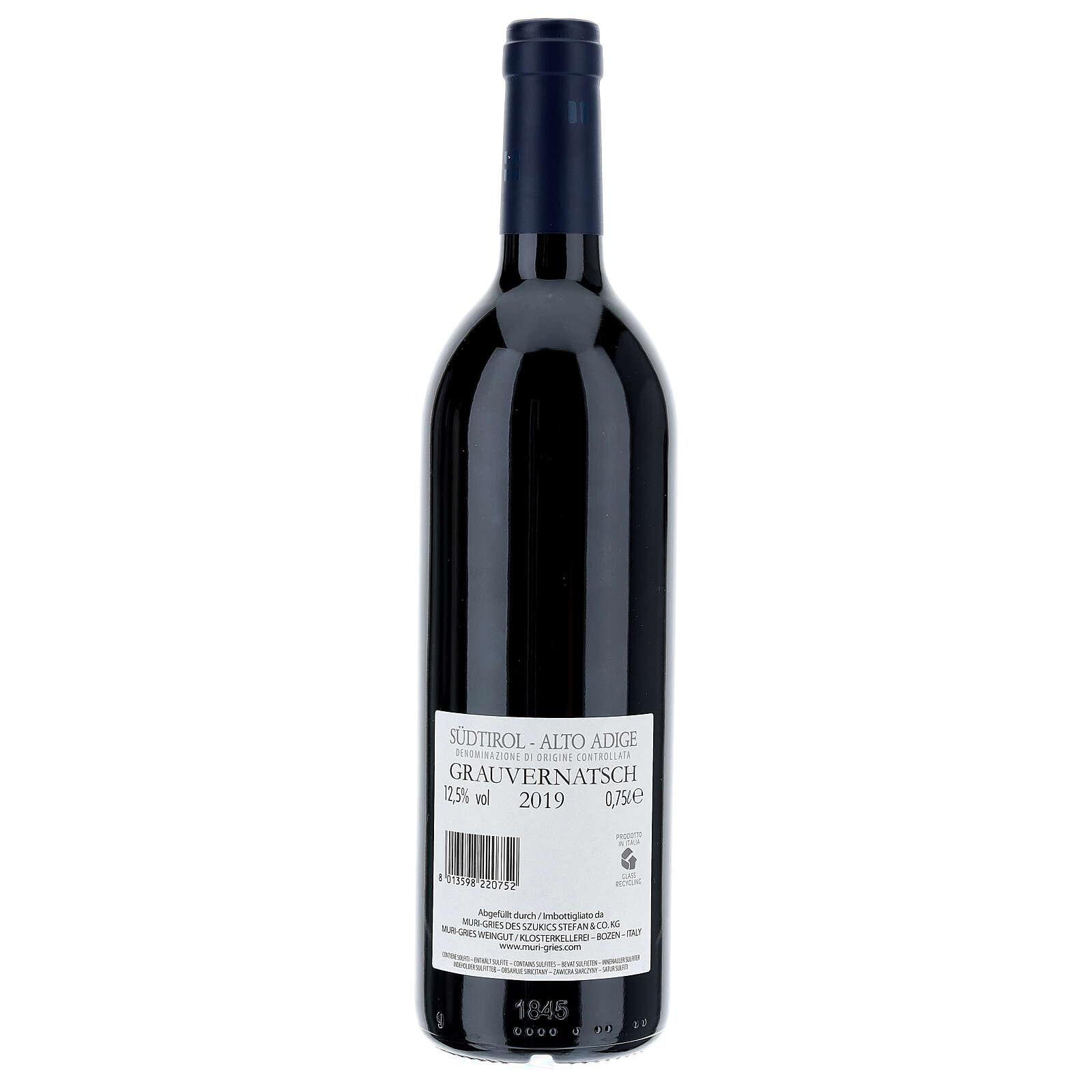 Vino Schiava Grigia  DOC 2019 Abbazia Muri Gries 750 ml 3
