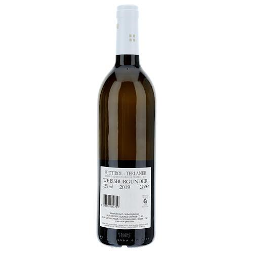 Vino Pinot Bianco di Terlano DOC 2019 Abbazia Muri Gries 750 ml 2