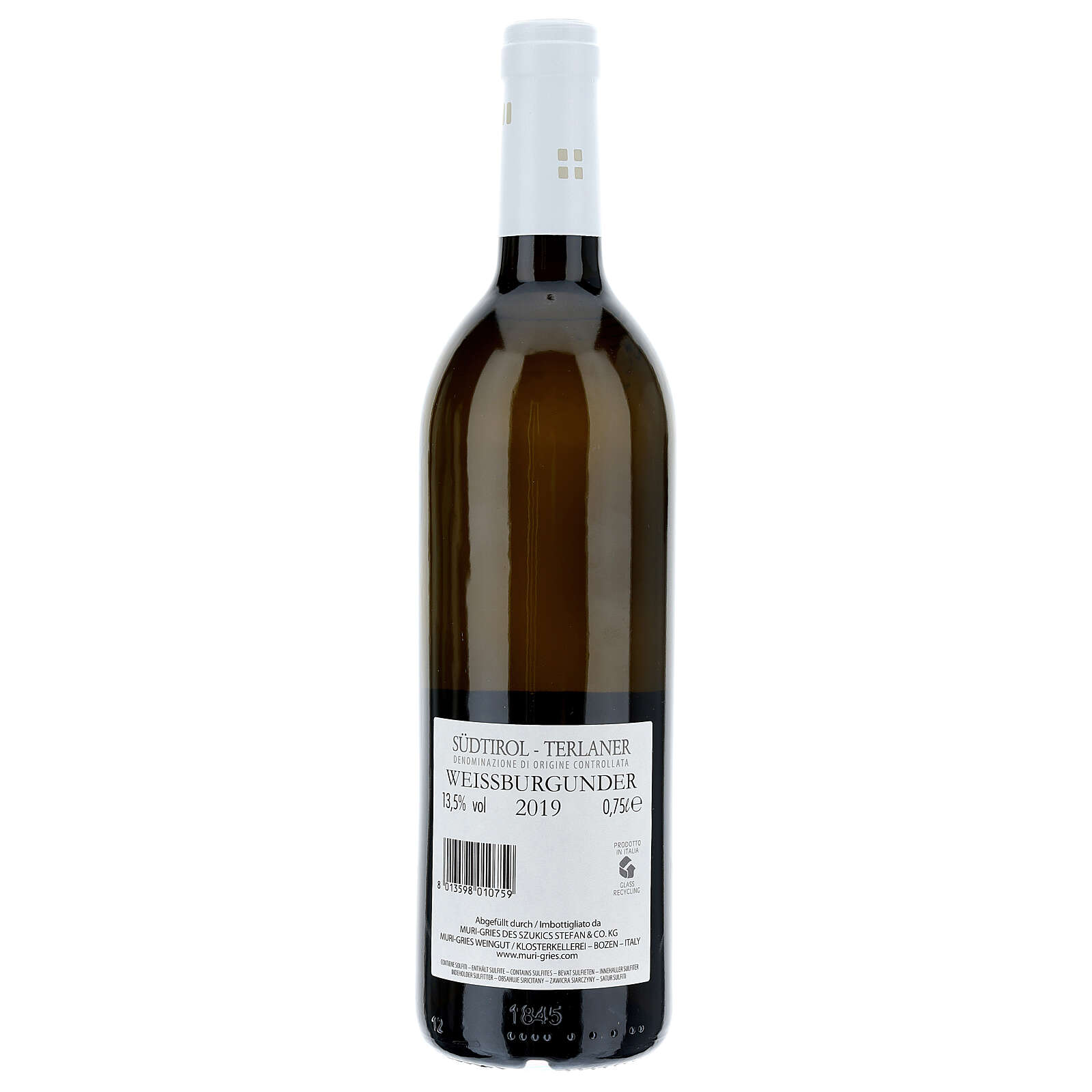 Wino Pinot Bianco di Terlano DOC 2019 Abbazia Muri Gries 750 ml 3