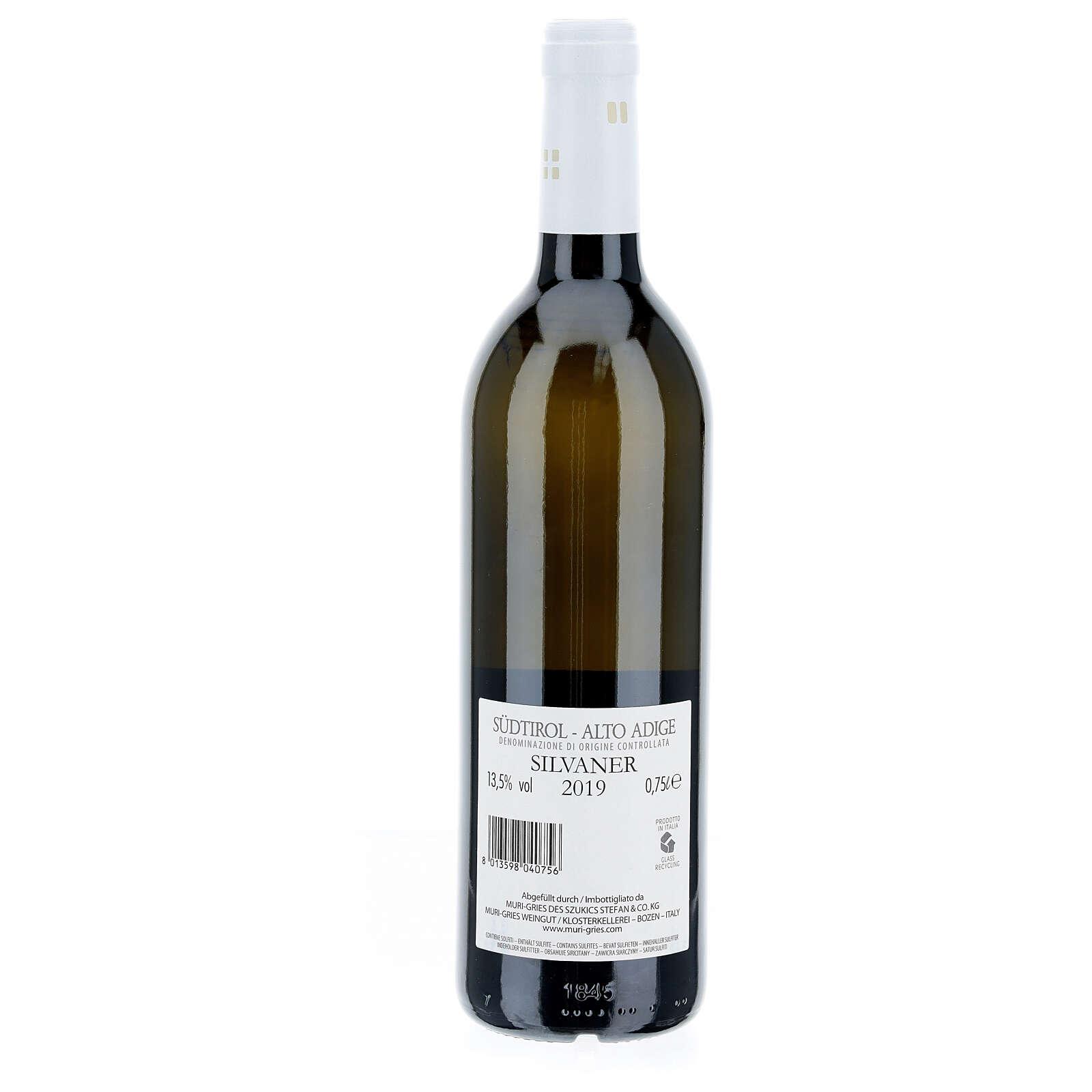 Silvaner DOC 2019 wine Muri Gries Abbay 3