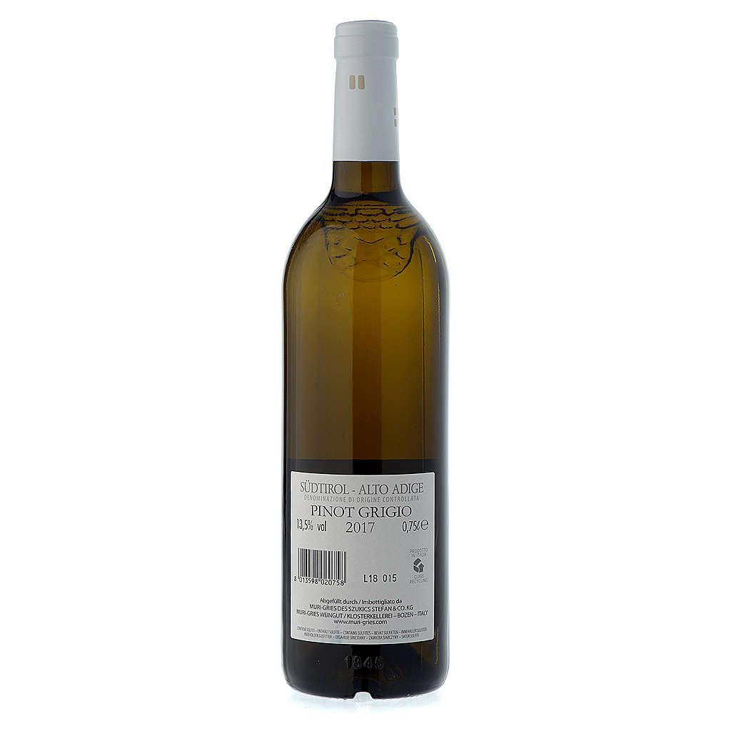 Vino Pinot Grigio DOC 2017 Abbazia Muri Gries 750 ml 3