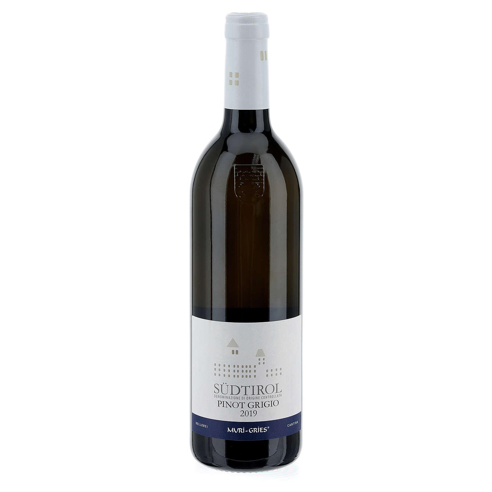 Vino Pinot Grigio DOC 2019 Abbazia Muri Gries 750 ml 3