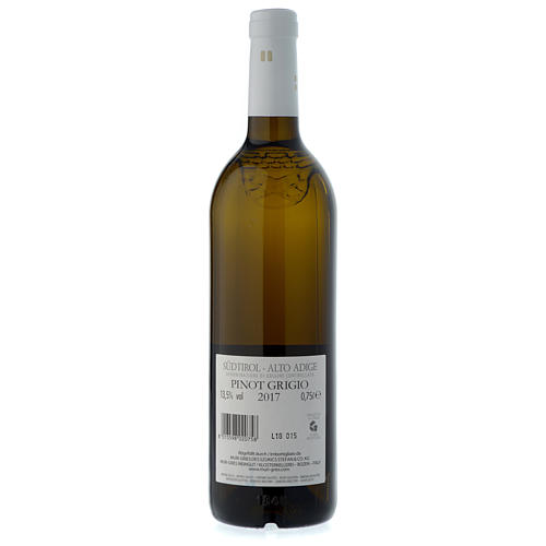 Vinho Pinot Grigio de Terlano DOC 2017 Abadia Muri Gries 750 ml 2
