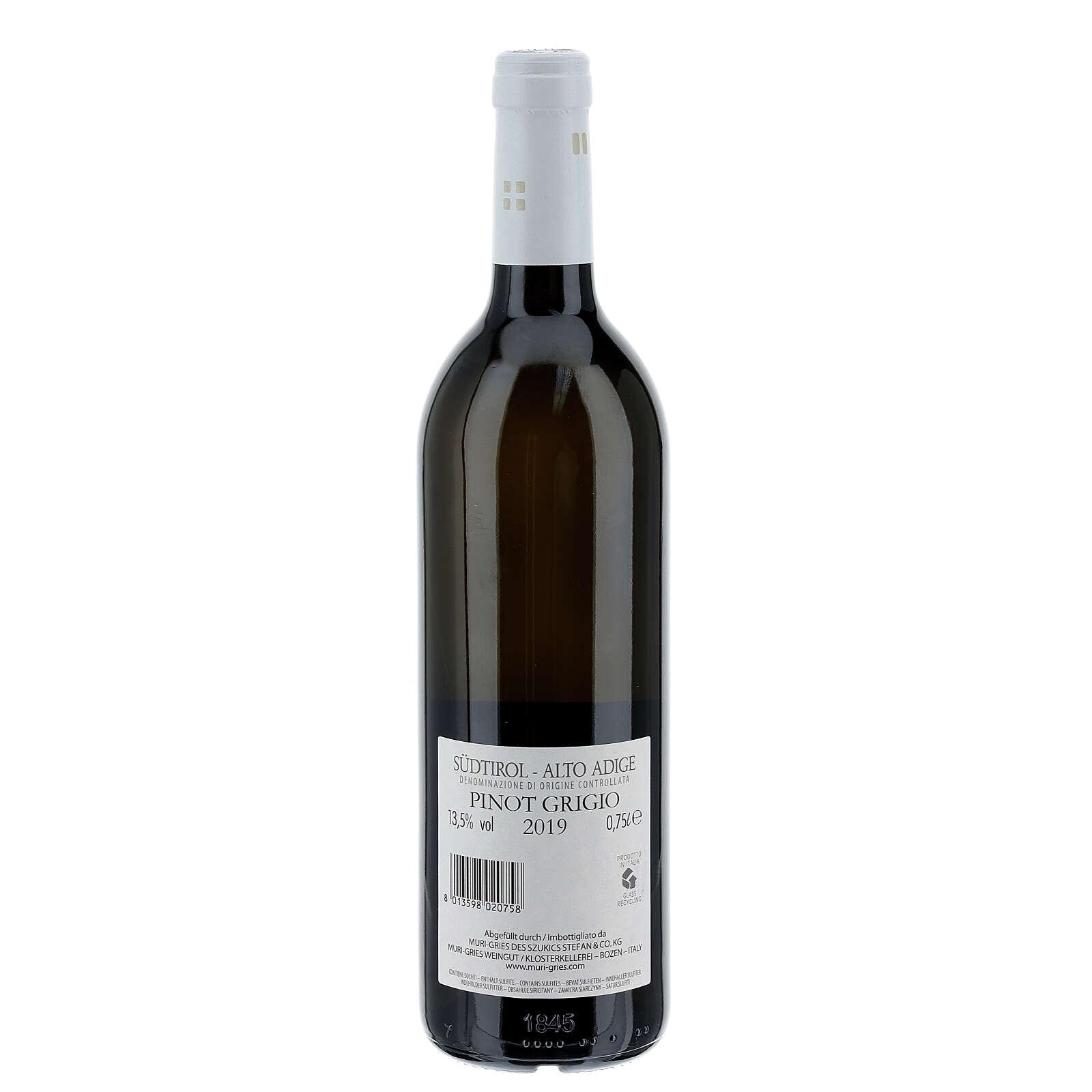 Pinot Grigio DOC 2019 wine Muri Gries Abbay 3