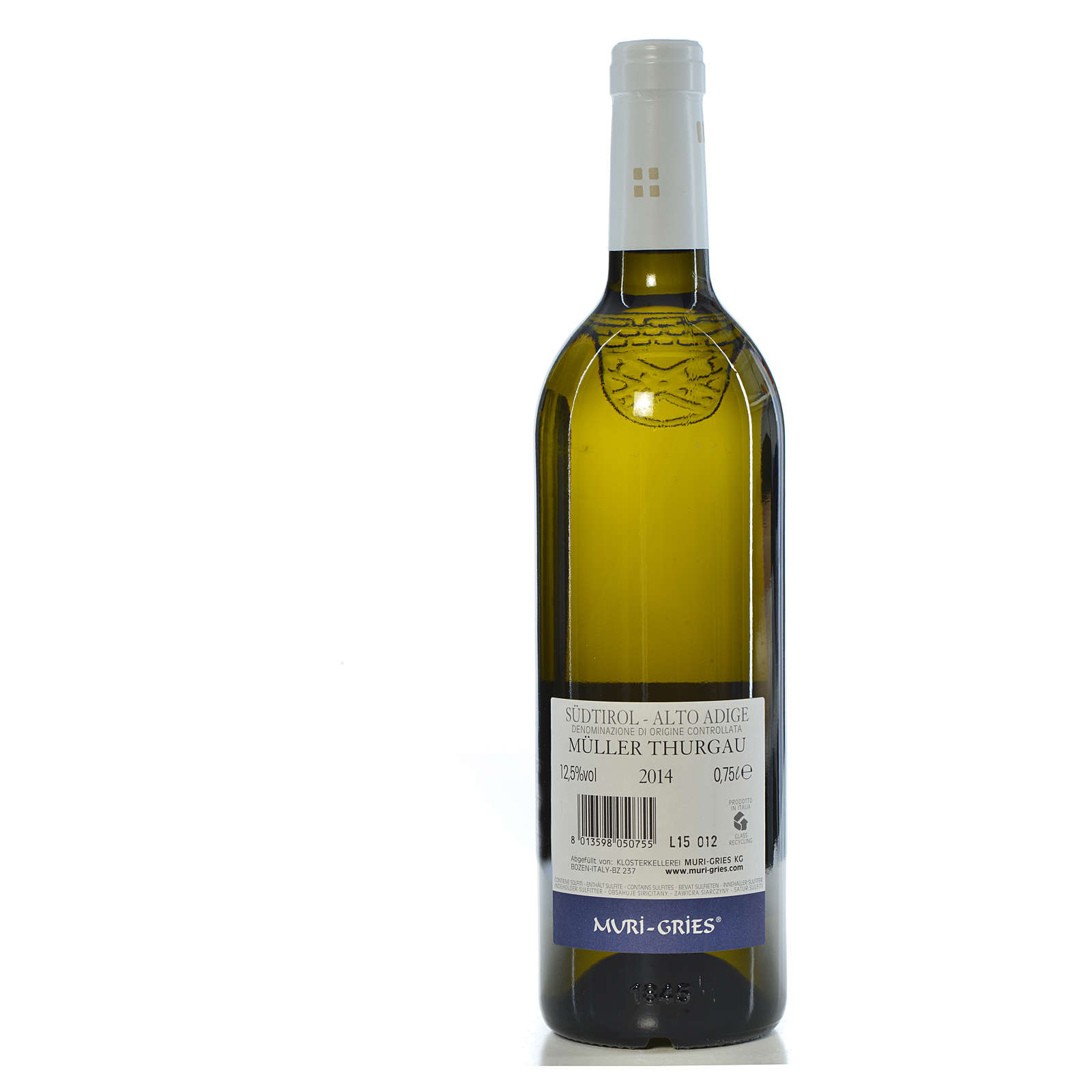Muller Thurgau DOC 2014 wine Muri Gries Abbay 3