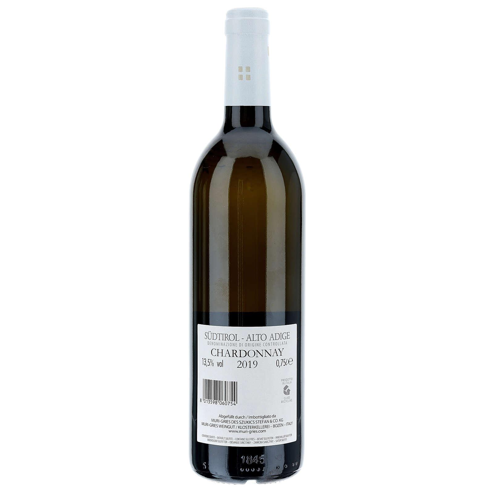 Chardonnay Wein Abtei Muri Gries 2019 3