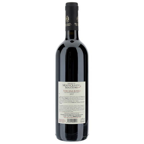 Tuscany red wine 2017 Monte Oliveto Abbey 750 ml 2