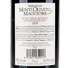 Vino Toscana Rosso 2009 Abbazia Monte Oliveto 750 ml s2