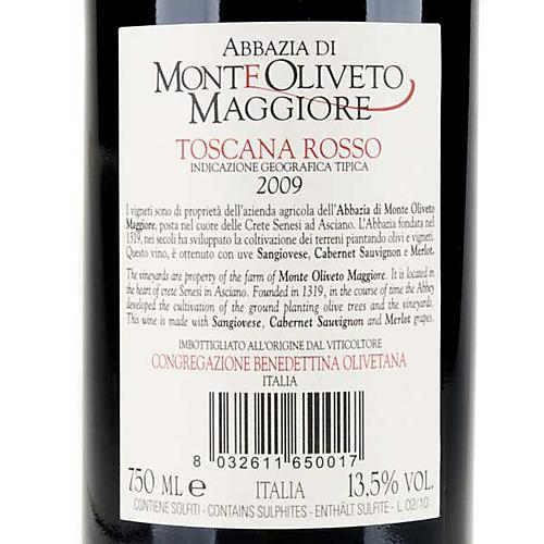 Vino Toscana Rosso 2009 Abbazia Monte Oliveto 750 ml 2
