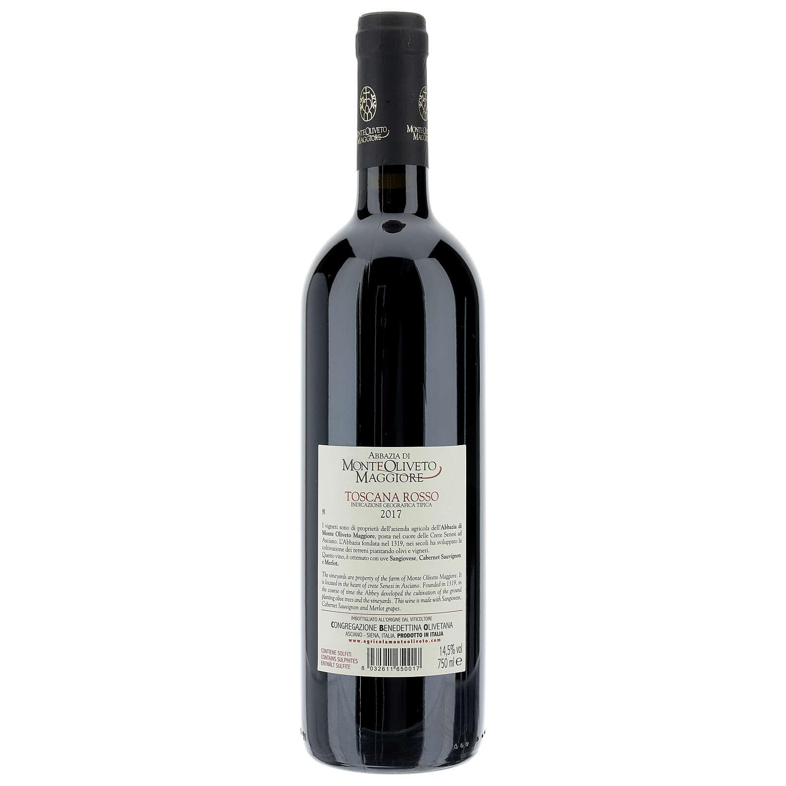 Wino Toskańskie czerwone 2017 Abbazia Monte Oliveto 750 ml 3