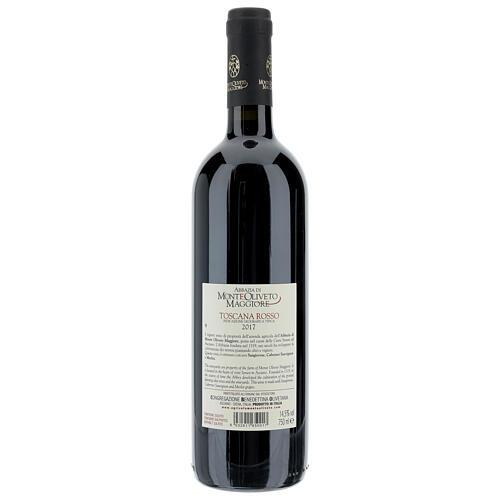 Wino Toskańskie czerwone 2017 Abbazia Monte Oliveto 750 ml 2