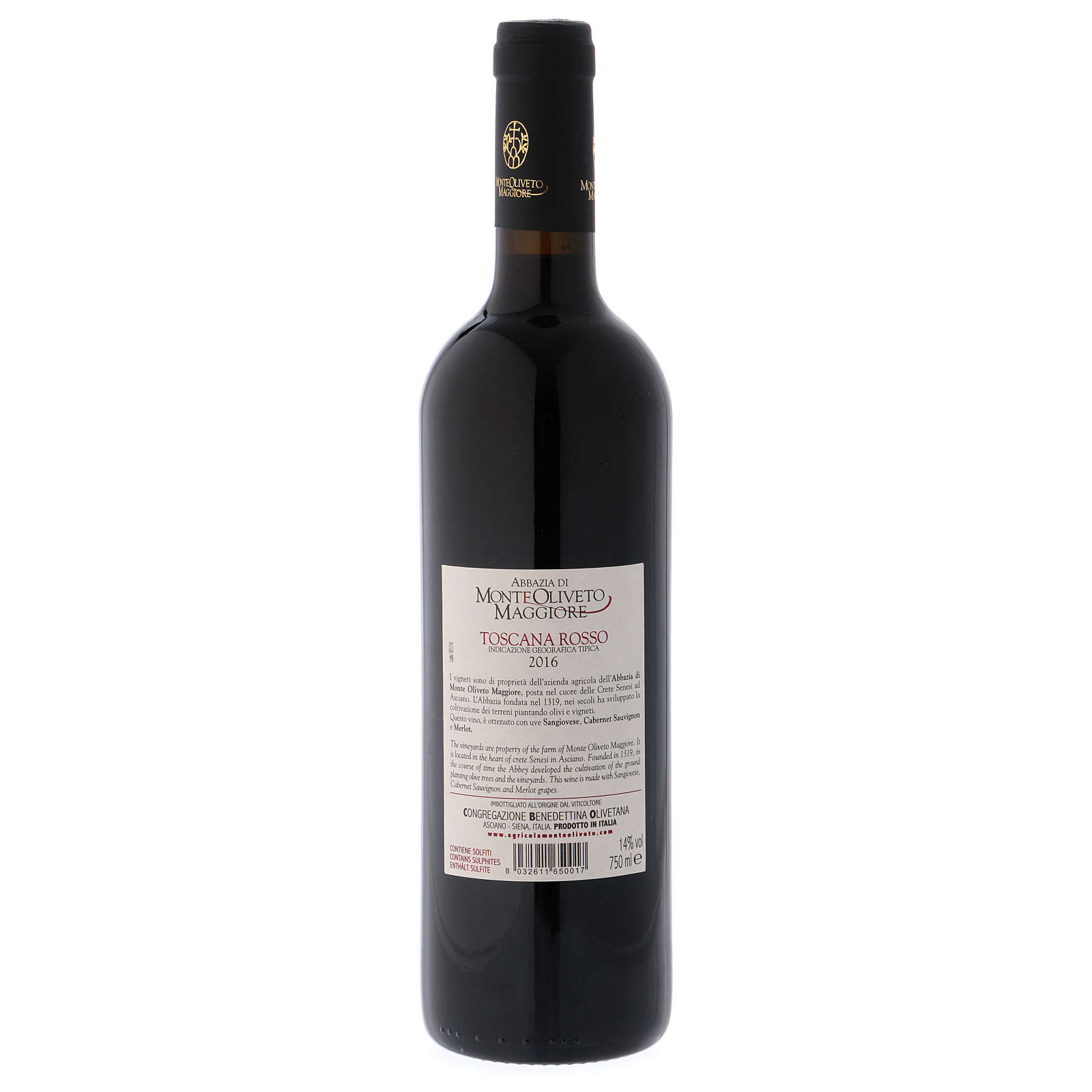 Tuscany red wine 2016 Monte Oliveto Abbey 750 ml 3