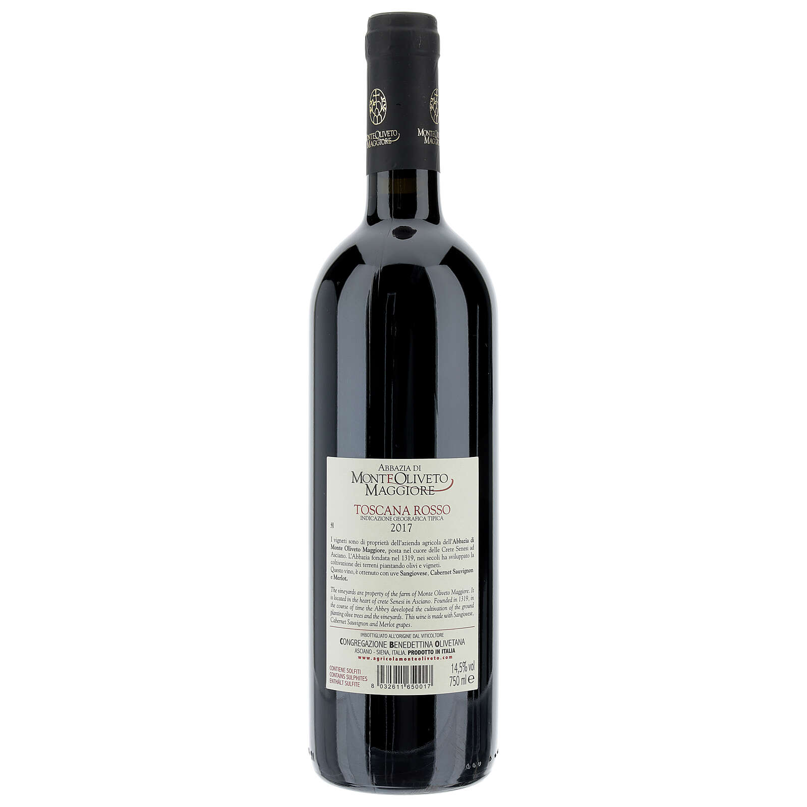Tuscany red wine 2017 Monte Oliveto Abbey 750 ml 3