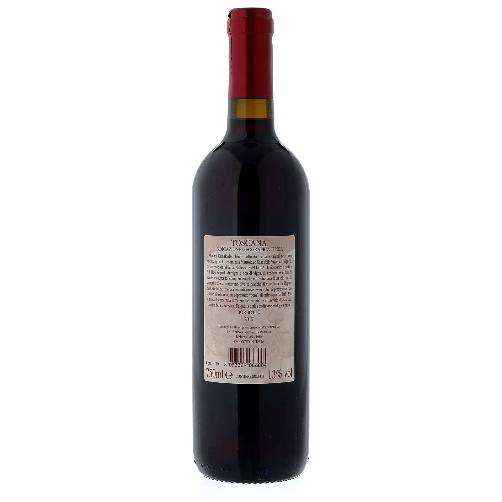 Vinho Tinto Toscano Borbotto 750 ml 2017 3