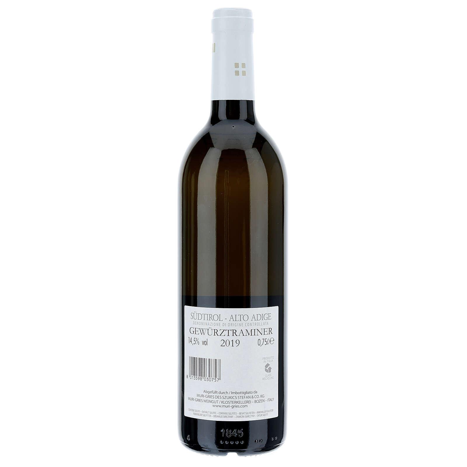 Traminer Aromatique DOC 2019 Abbaye Muri Gries 750 ml 3