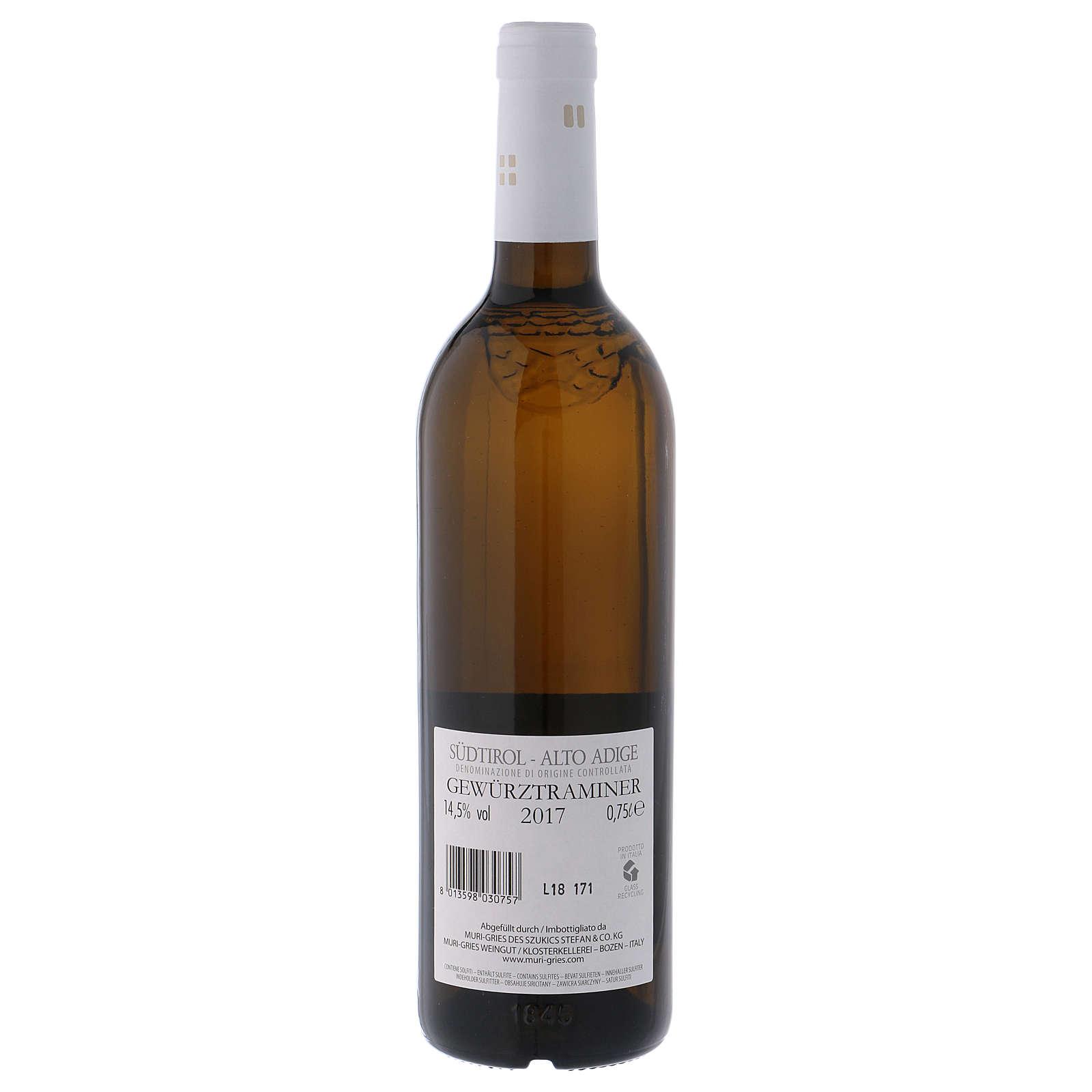 Traminer Aromatico DOC 2017 Abbazia Muri Gries 750 ml 3