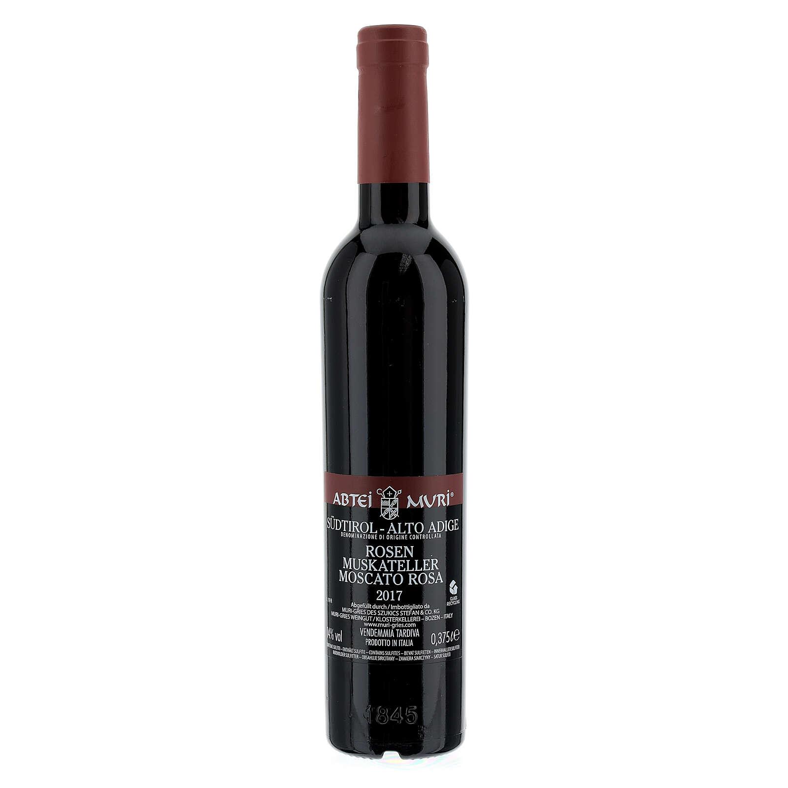 Wino Moscato rosa DOC 2015 Abbazia Muri Gries 375 ml 3