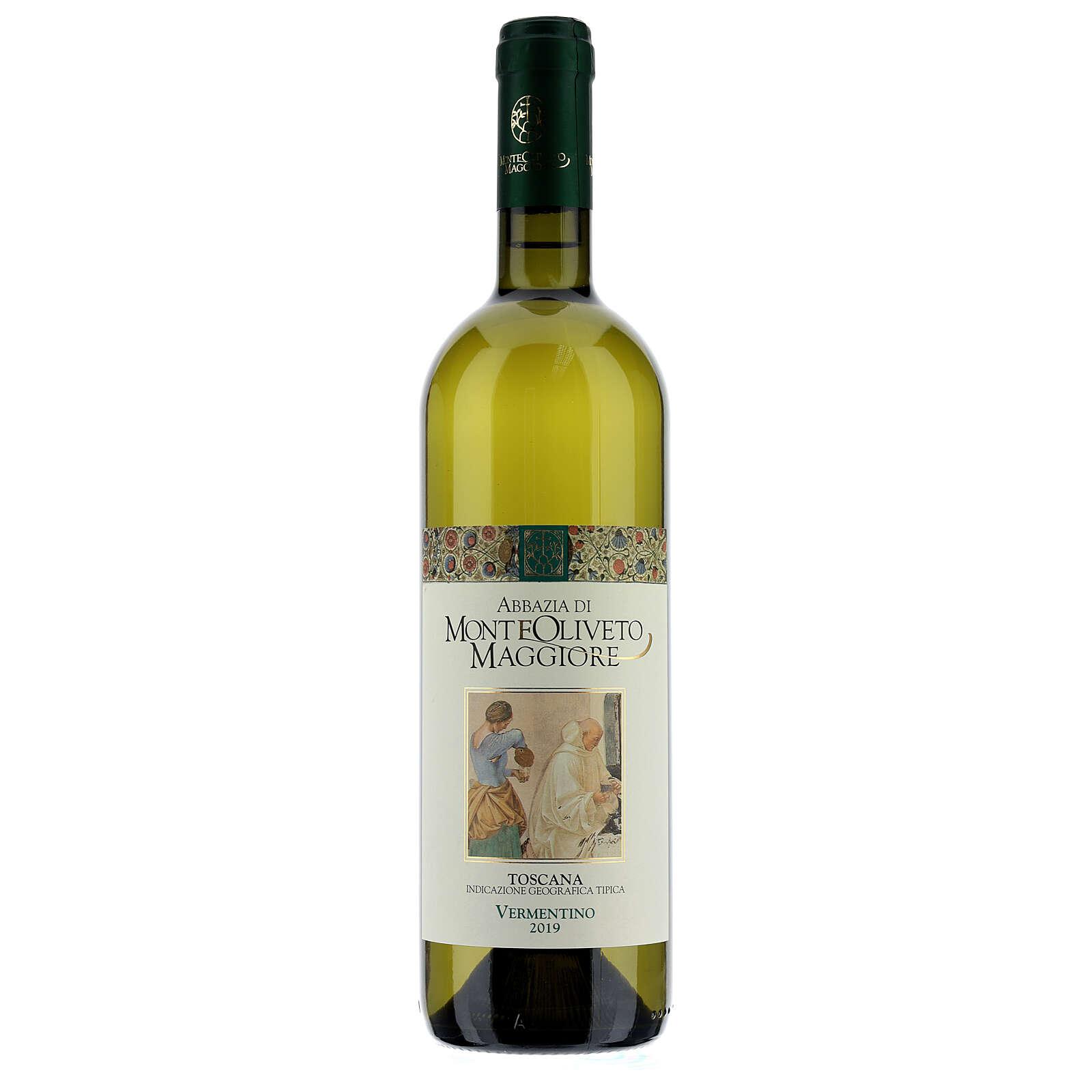 Vino Toscana blanco 2019 Abbazia Monte Oliveto 750ml 3