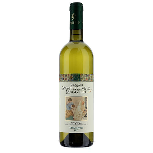 Vino Toscana blanco 2019 Abbazia Monte Oliveto 750ml 1