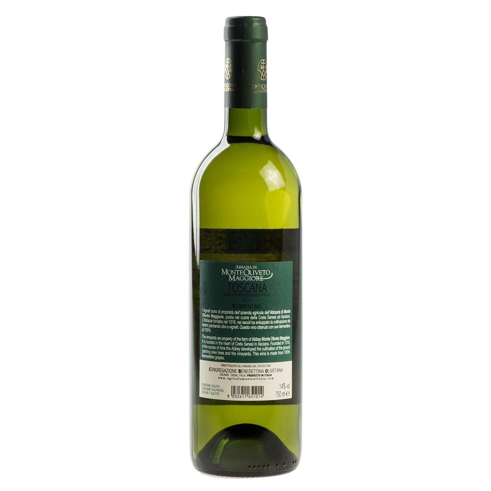 Vino Toscana Bianco 2011 Abbazia Monte Oliveto 750 ml 3