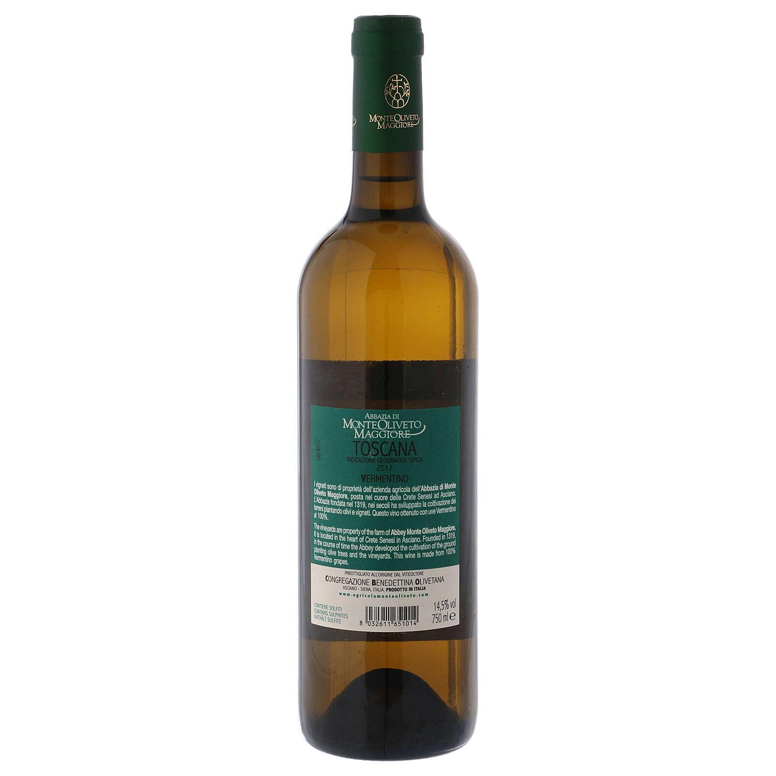 Vino Toscana Bianco 2017 Abbazia Monte Oliveto 750 ml 3