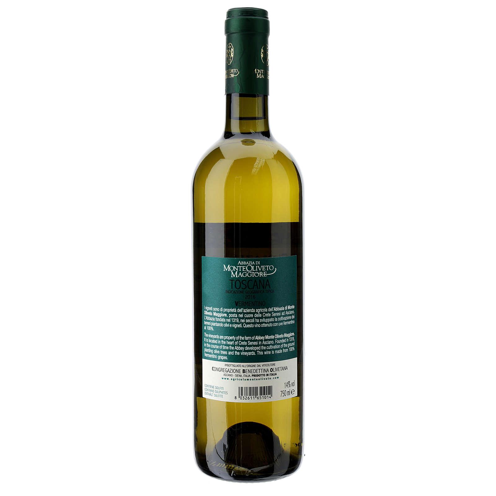 Wino Toscana Bianco 2016 Abbazia Monte Oliveto 750 ml 3