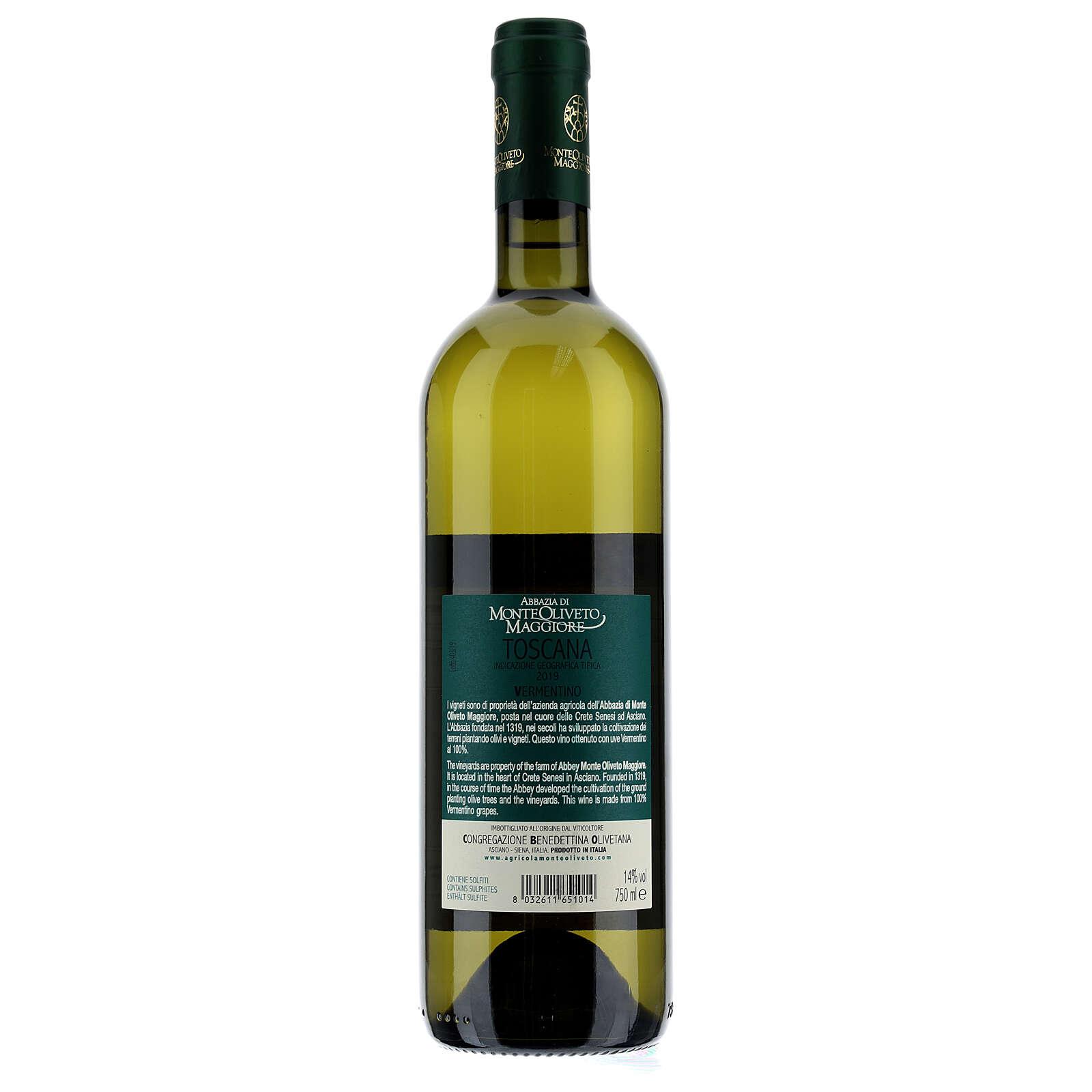 Wino Toscana Bianco 2019 Abbazia Monte Oliveto 750 ml 3