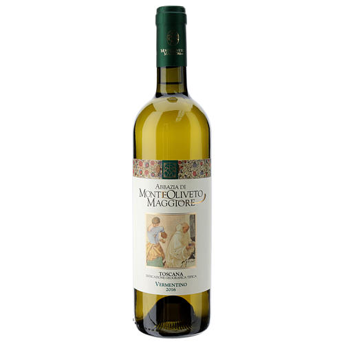 Wino Toscana Bianco 2016 Abbazia Monte Oliveto 750 ml 1