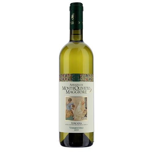 Wino Toscana Bianco 2019 Abbazia Monte Oliveto 750 ml 1