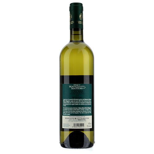 Wino Toscana Bianco 2019 Abbazia Monte Oliveto 750 ml 2