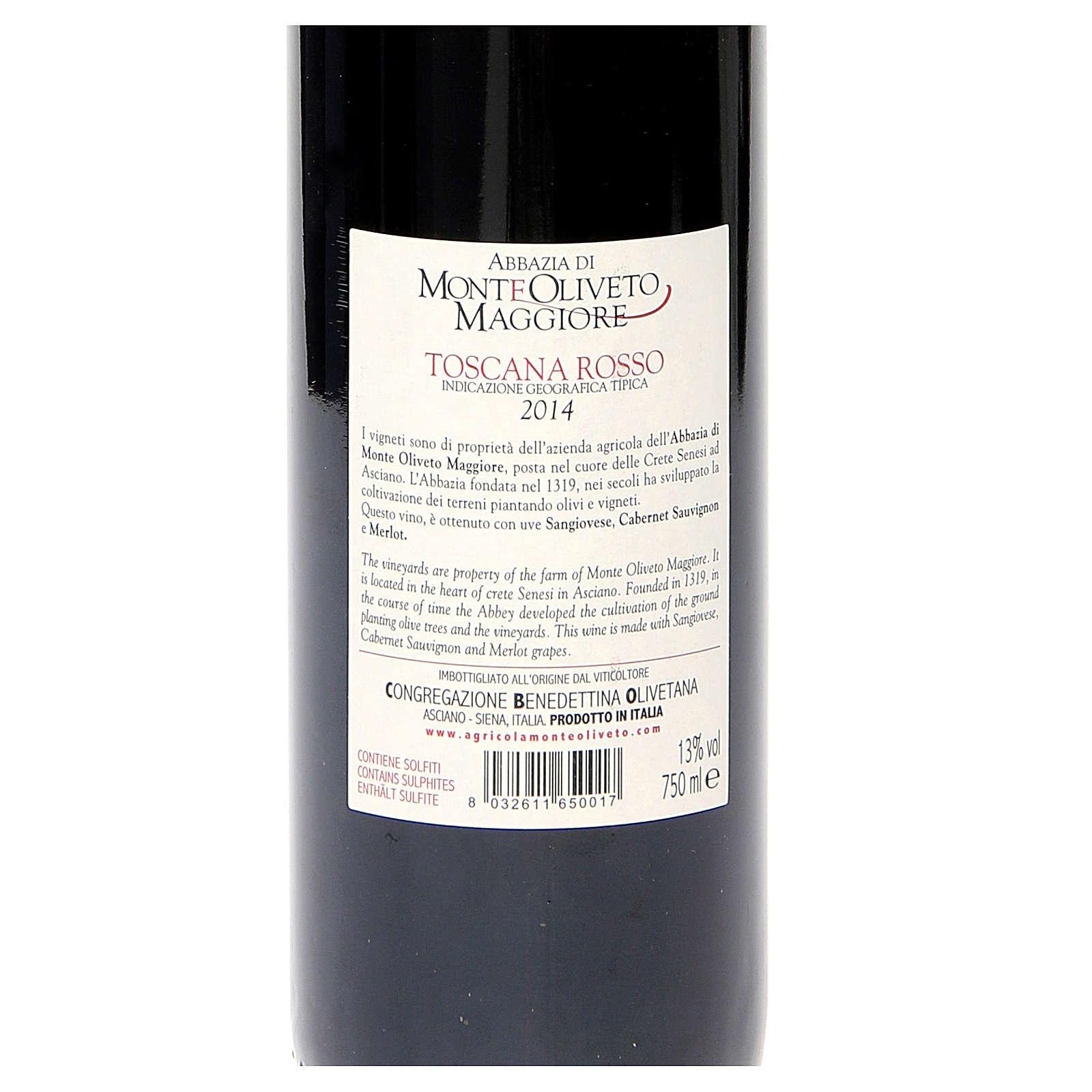Vino Toscana Rosso 2014 Abbazia Monte Oliveto 750 ml 3