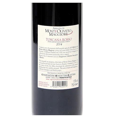Vino Toscana Rosso 2014 Abbazia Monte Oliveto 750 ml 2