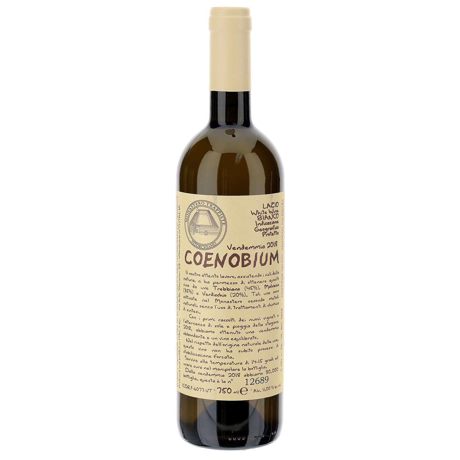 Vino Coenobium bianco Vitorchiano 750 ml vendemmia 2018 3