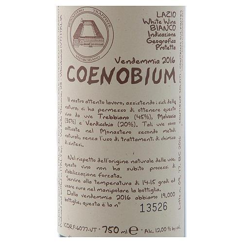 Vino Coenobium bianco Vitorchiano 750 ml vendemmia 2016 2