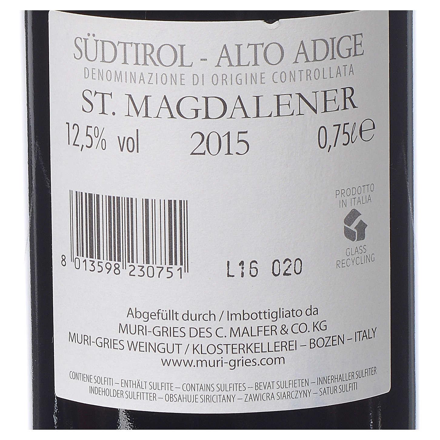 Vino S. Maddalena DOC 2015 Abbazia Muri Gries 750 ml 3