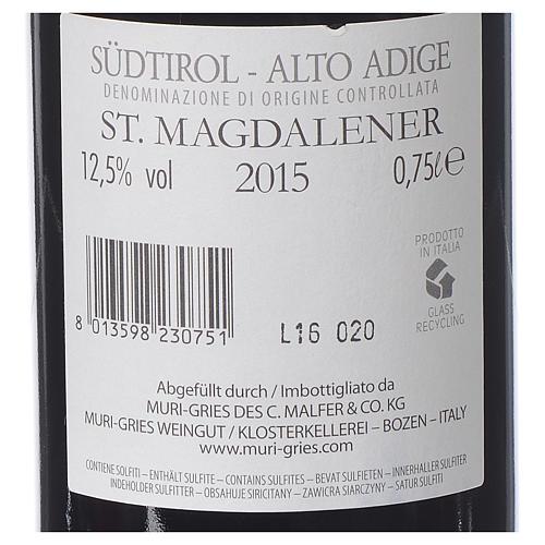 Vino S. Maddalena DOC 2015 Abbazia Muri Gries 750 ml 2