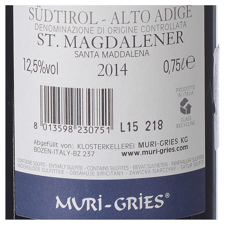 Vino S. Maddalena DOC 2014 Abbazia Muri Gries 750 ml 3