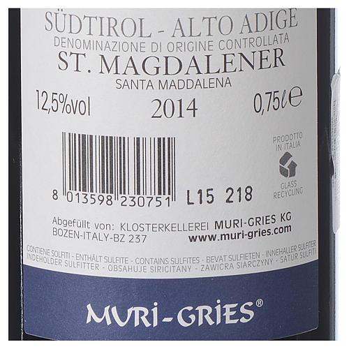 Vino S. Maddalena DOC 2014 Abbazia Muri Gries 750 ml 2