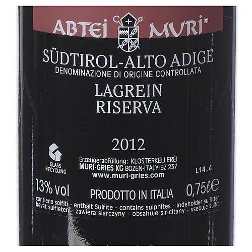 Vino Lagrein Riserva DOC 2012 Abbazia Muri Gries 750 ml 2