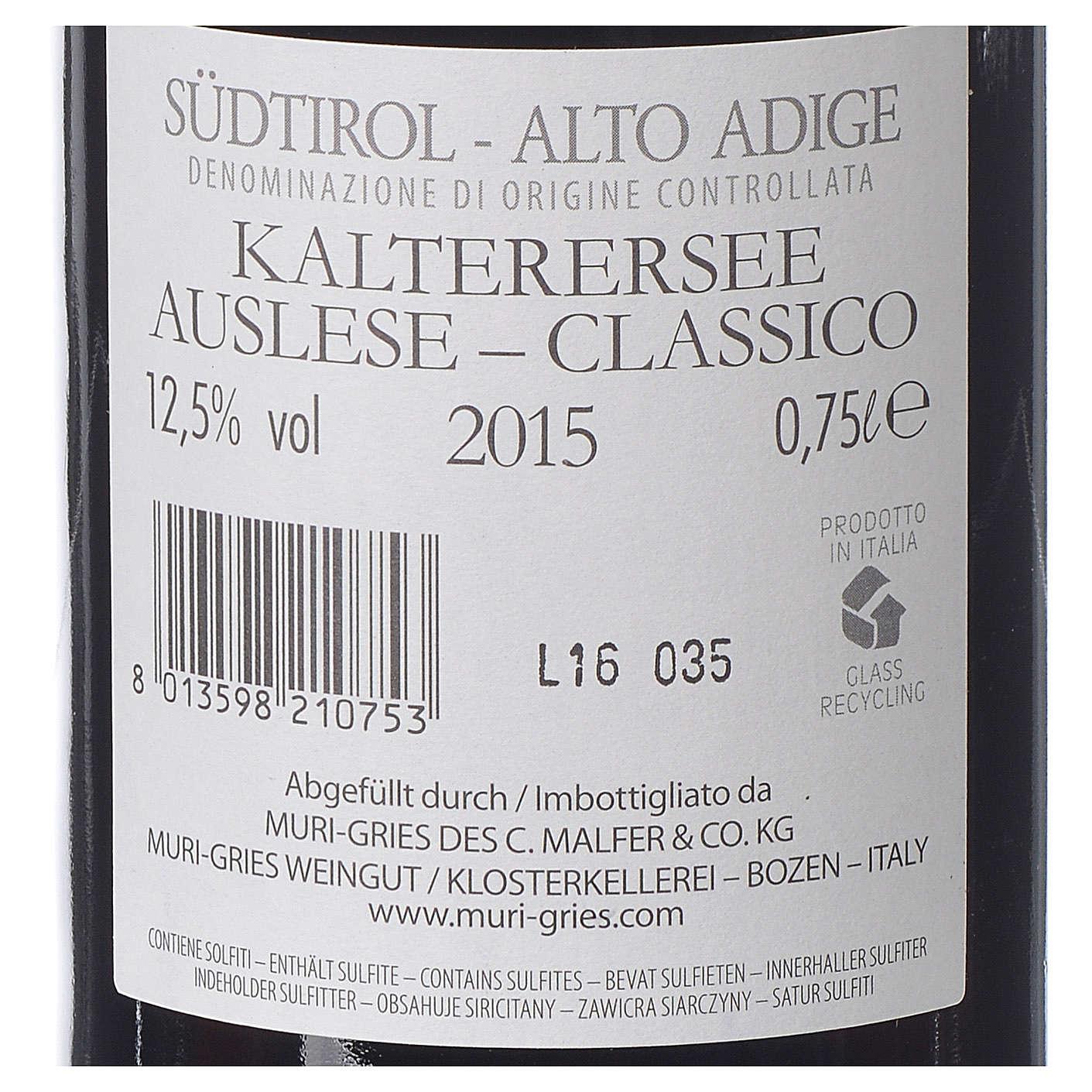 Vino Lago di Caldaro scelto DOC 2015 Abbazia Muri Gries 750 ml 3