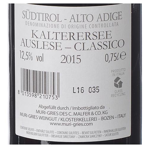Vino Lago di Caldaro scelto DOC 2015 Abbazia Muri Gries 750 ml 2