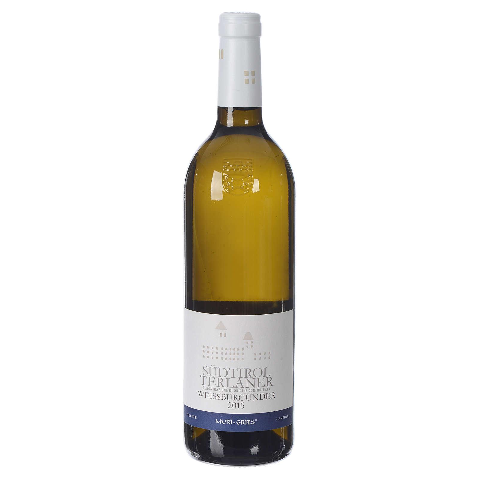 Vino Pinot Bianco di Terlano DOC 2015 Abbazia Muri Gries 750 ml 3