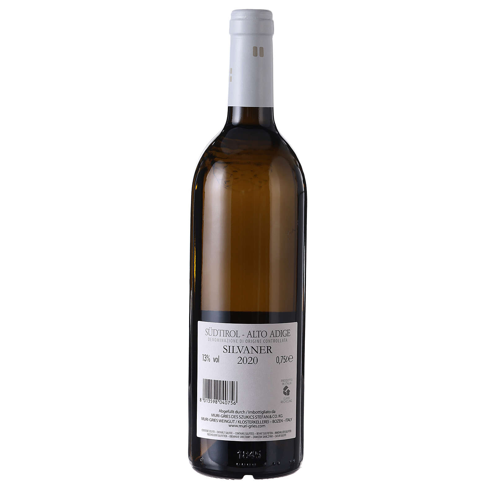 Silvaner DOC white wine Muri Gries Abbey 2020 3