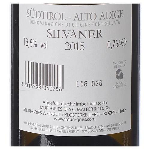 Vino Silvaner DOC 2015 Abadía Muri Gries 750 ml 2