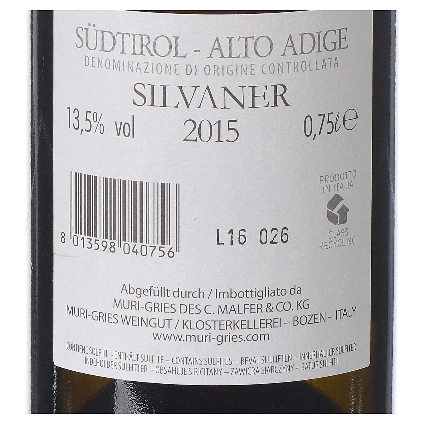 Vino Silvaner DOC 2015 Abbazia Muri Gries 750 ml 3