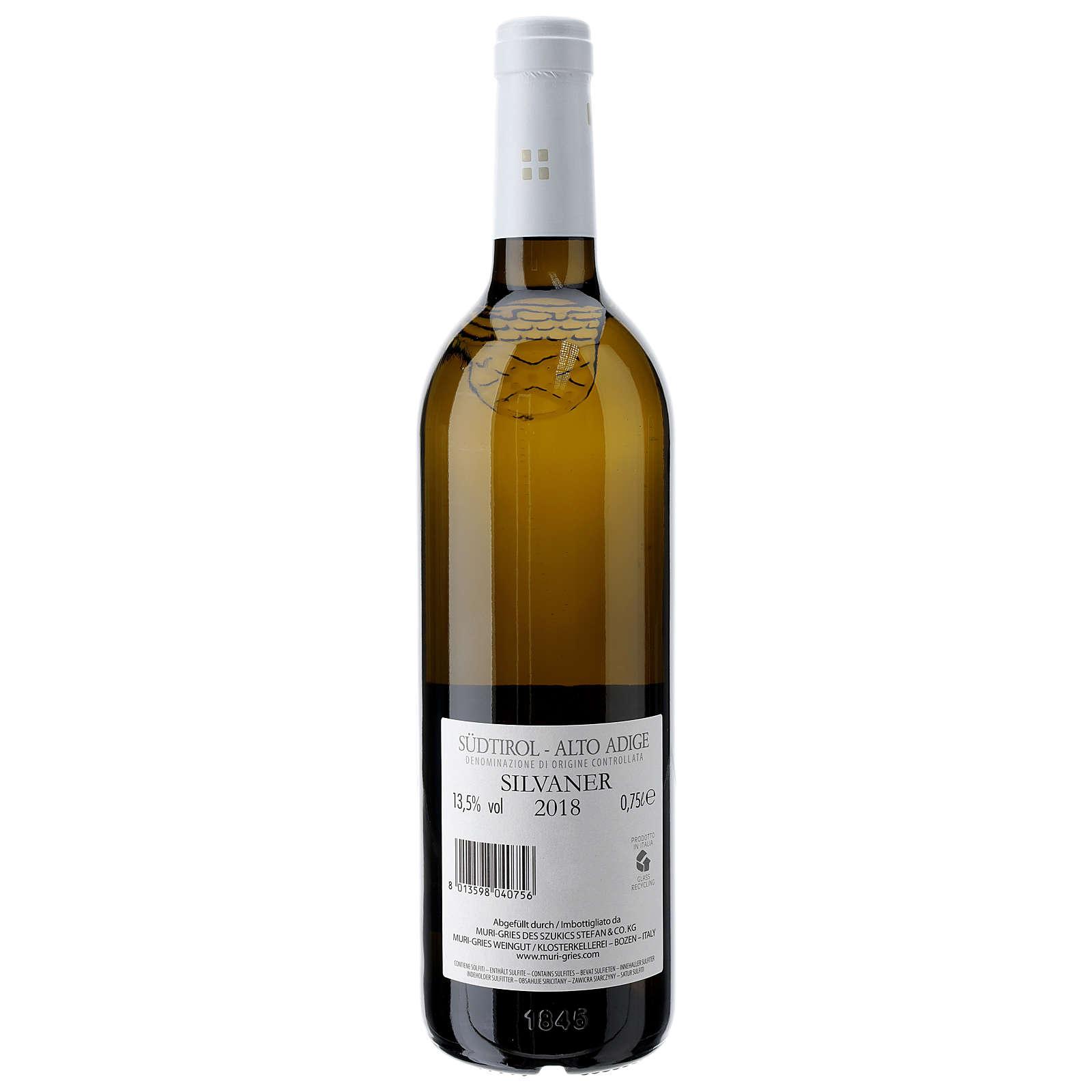 Wino Silvaner DOC 2018 Opactwo Muri Gries 750ml 3