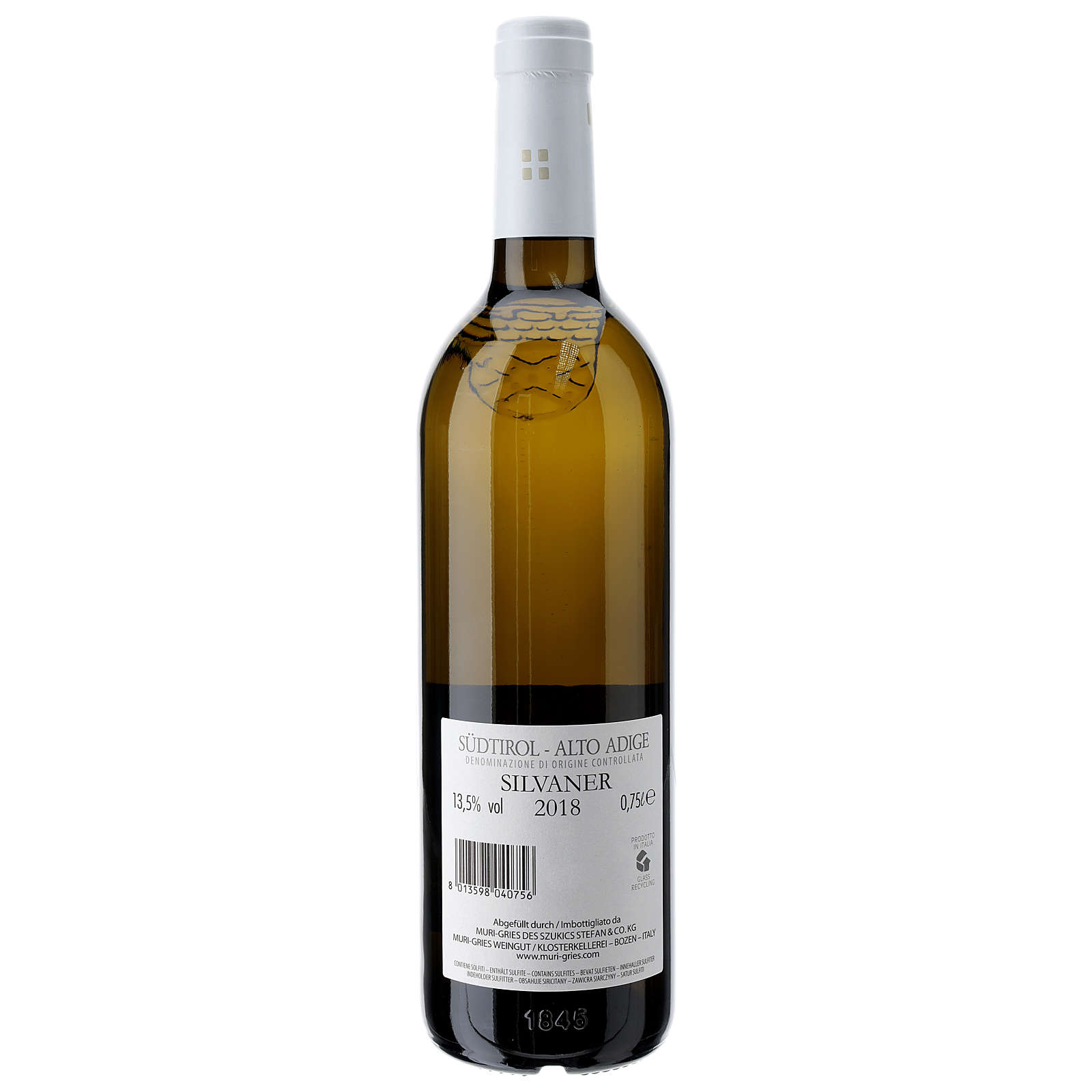 Vinho Silvaner DOC 2018 Abadia Muri Gries 750 ml 3