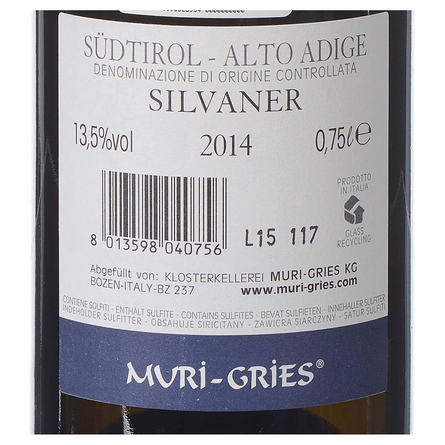 Vino Silvaner DOC 2014 Abbazia Muri Gries 750 ml 3